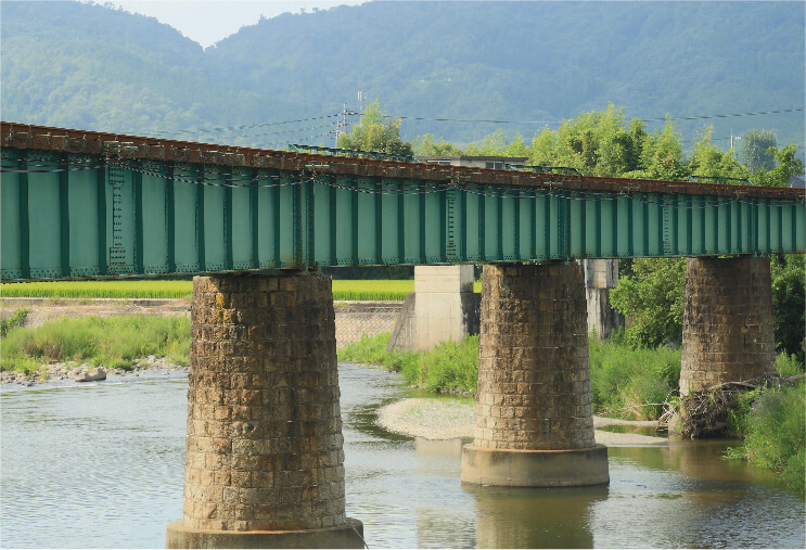 1.若桜鉄道第一八東川橋梁