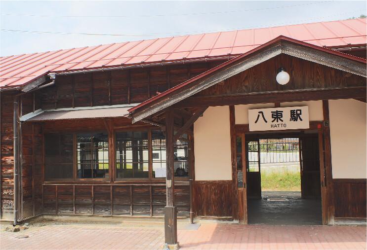 6.若桜鉄道八東駅本屋